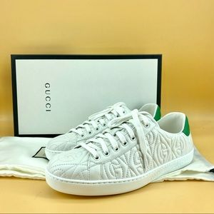 AUTH Gucci Ace G Rhombus Sneaker brand new